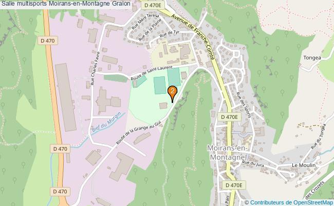 plan Salle multisports Moirans-en-Montagne : 2 équipements