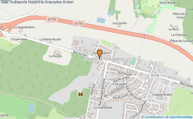 plan Salle multisports Noyant-la-Gravoyère : 1 équipements