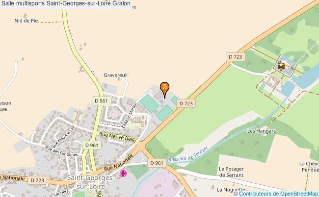 plan Salle multisports Saint-Georges-sur-Loire : 2 équipements