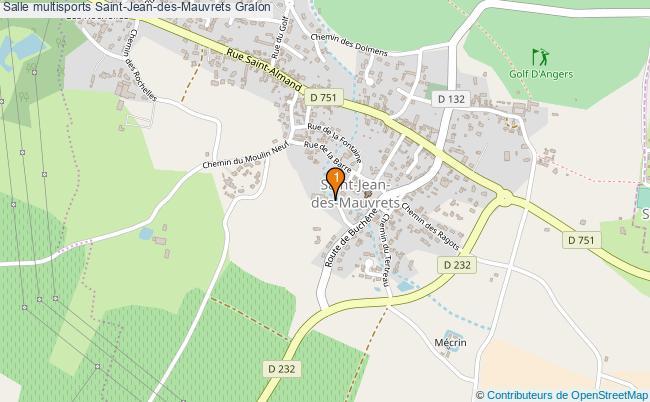plan Salle multisports Saint-Jean-des-Mauvrets : 1 équipements