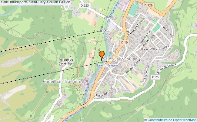 plan Salle multisports Saint-Lary-Soulan : 1 équipements