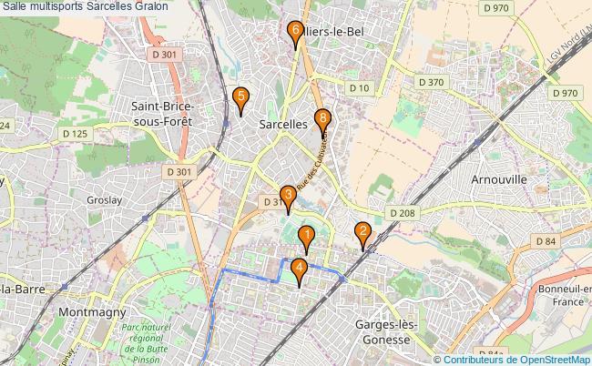 plan Salle multisports Sarcelles : 8 équipements