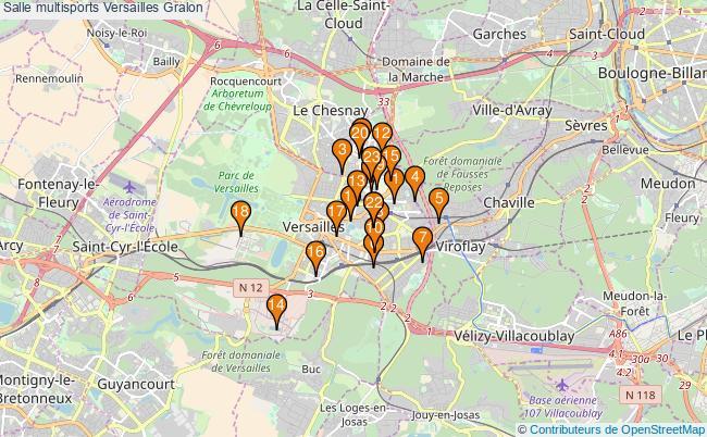 plan Salle multisports Versailles : 23 équipements
