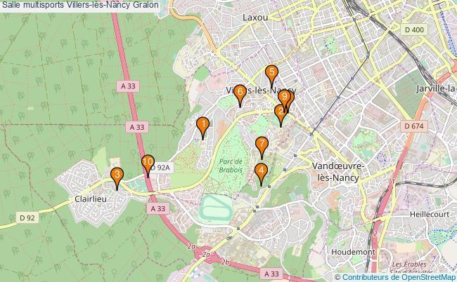 plan Salle multisports Villers-lès-Nancy : 10 équipements