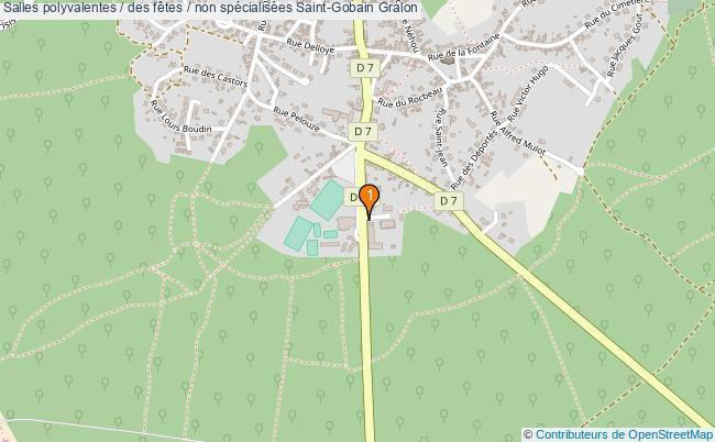 plan Salles polyvalentes / des fêtes / non spécialisées Saint-Gobain : 1 équipements