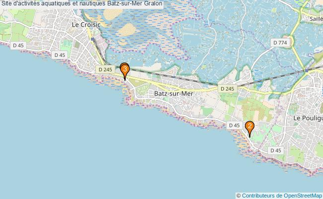 plan Site d'activités aquatiques et nautiques Batz-sur-Mer : 3 équipements