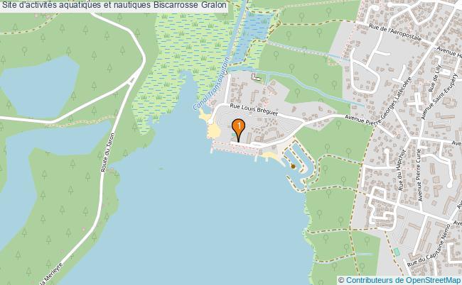 plan Site d'activités aquatiques et nautiques Biscarrosse : 1 équipements