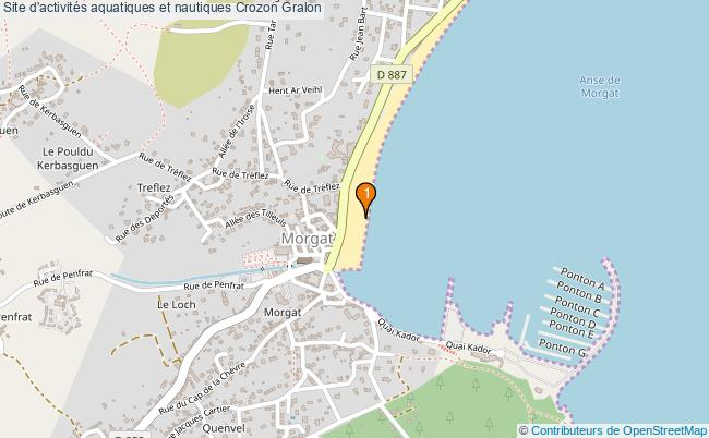 plan Site d'activités aquatiques et nautiques Crozon : 1 équipements