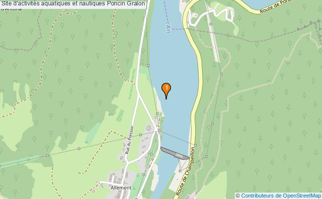 plan Site d'activités aquatiques et nautiques Poncin : 1 équipements
