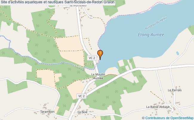 plan Site d'activités aquatiques et nautiques Saint-Nicolas-de-Redon : 1 équipements