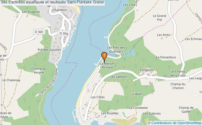 plan Site d'activités aquatiques et nautiques Saint-Plantaire : 1 équipements