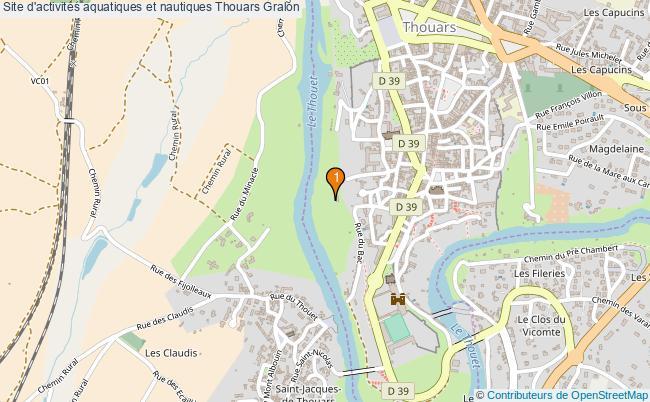 plan Site d'activités aquatiques et nautiques Thouars : 1 équipements