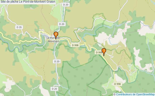 plan Site de pêche Le Pont-de-Montvert : 2 équipements