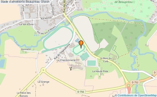 plan Stade d'athlétisme Beaupréau : 1 équipements