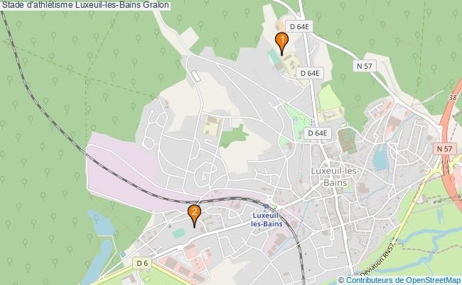 plan Stade d'athlétisme Luxeuil-les-Bains : 2 équipements