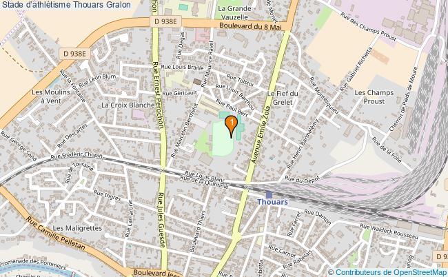plan Stade d'athlétisme Thouars : 1 équipements