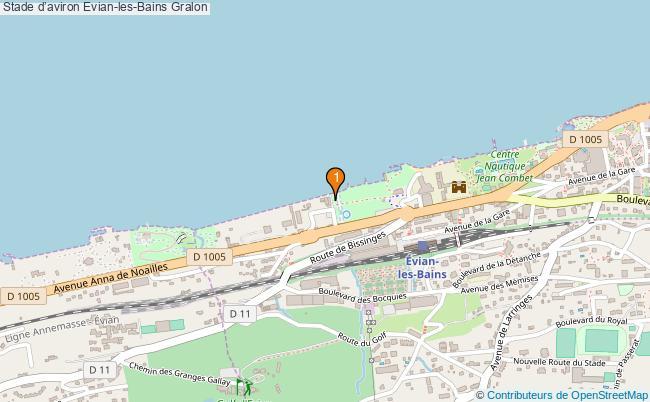 plan Stade d'aviron Evian-les-Bains : 1 équipements