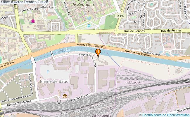 plan Stade d'aviron Rennes : 1 équipements