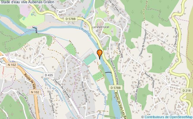 plan Stade d'eau vive Aubenas : 1 équipements