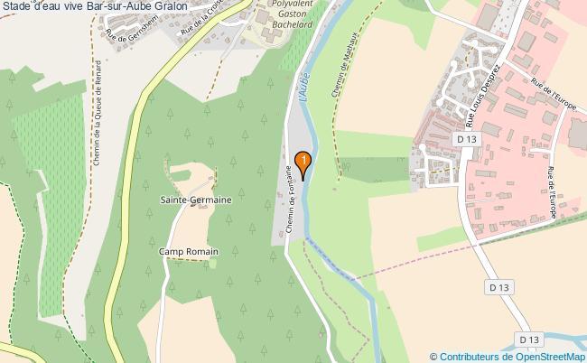 plan Stade d'eau vive Bar-sur-Aube : 1 équipements