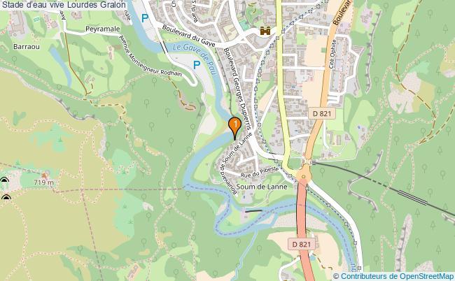 plan Stade d'eau vive Lourdes : 1 équipements