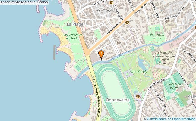 plan Stade mixte Marseille : 1 équipements