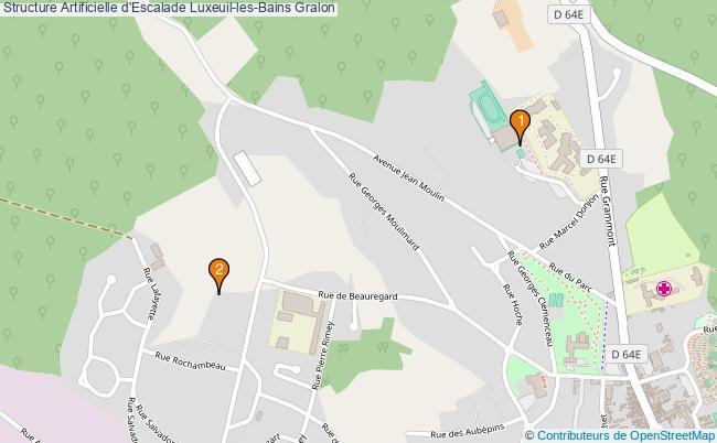 plan Structure Artificielle d'Escalade Luxeuil-les-Bains : 2 équipements