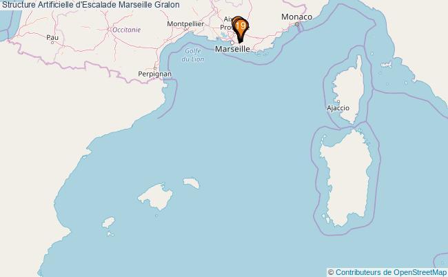 plan Structure Artificielle d'Escalade Marseille : 19 équipements