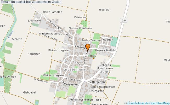 plan Terrain de basket-ball Grussenheim : 1 équipements