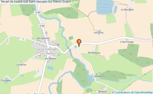plan Terrain de basket-ball Saint-Georges-sur-Renon : 1 équipements