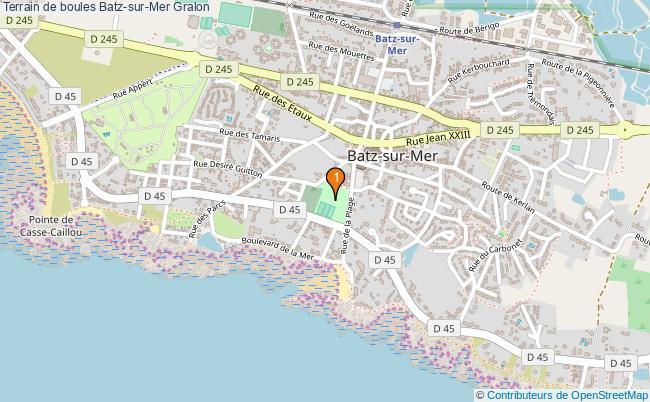 plan Terrain de boules Batz-sur-Mer : 1 équipements