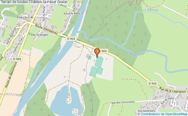 plan Terrain de boules Châtillon-la-Palud : 1 équipements