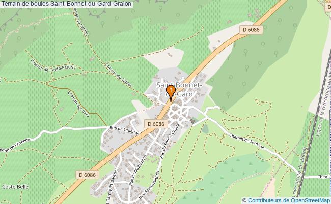 plan Terrain de boules Saint-Bonnet-du-Gard : 1 équipements