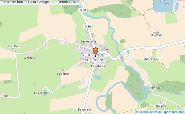 plan Terrain de boules Saint-Georges-sur-Renon : 1 équipements