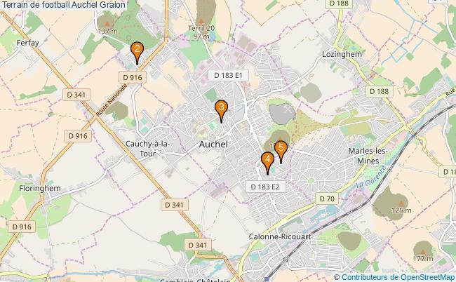 plan Terrain de football Auchel : 5 équipements