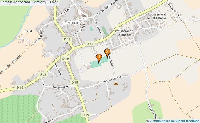 plan Terrain de football Demigny : 2 équipements