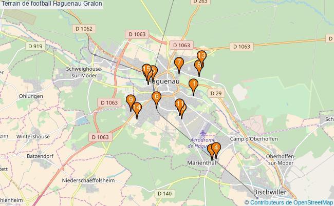 plan Terrain de football Haguenau : 15 équipements