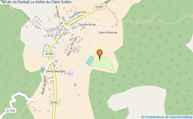 plan Terrain de football La Motte-du-Caire : 1 équipements