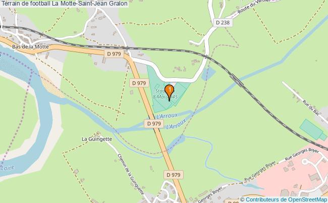 plan Terrain de football La Motte-Saint-Jean : 1 équipements