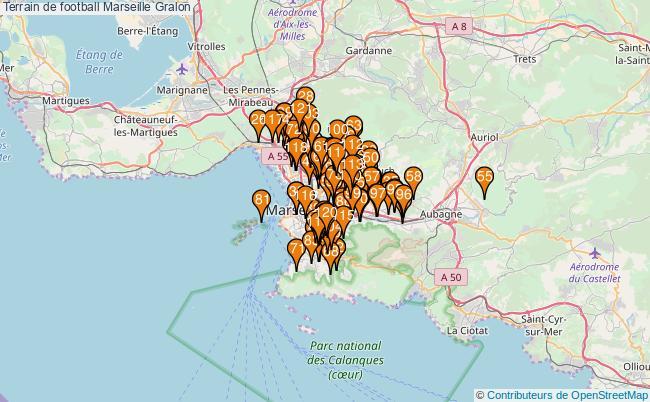 plan Terrain de football Marseille : 121 équipements