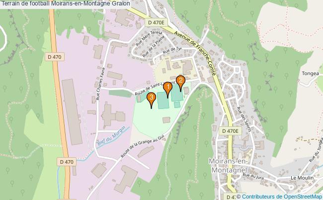 plan Terrain de football Moirans-en-Montagne : 3 équipements
