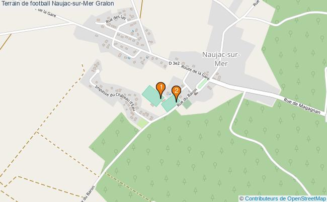 plan Terrain de football Naujac-sur-Mer : 2 équipements