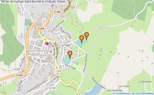 plan Terrain de football Saint-Bonnet-le-Château : 3 équipements