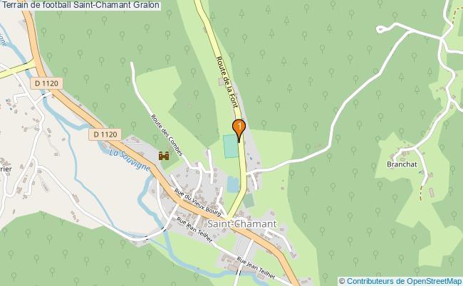 plan Terrain de football Saint-Chamant : 1 équipements
