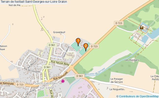plan Terrain de football Saint-Georges-sur-Loire : 2 équipements
