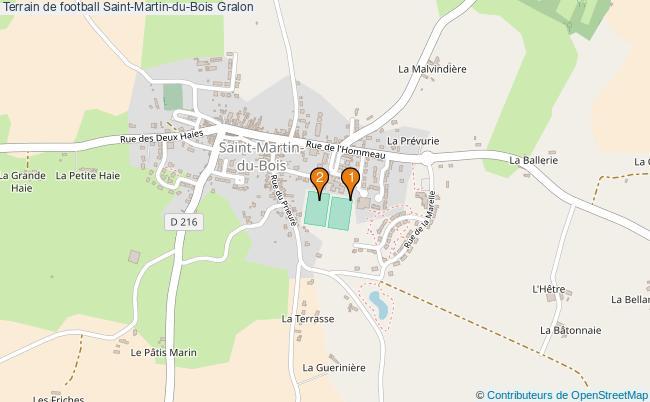 plan Terrain de football Saint-Martin-du-Bois : 2 équipements