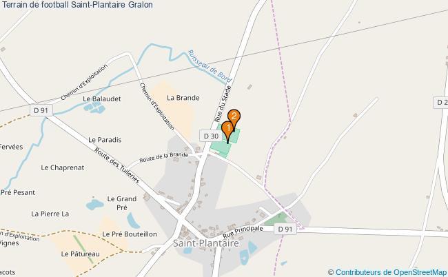 plan Terrain de football Saint-Plantaire : 2 équipements