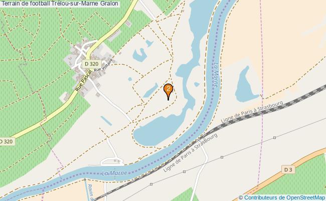 plan Terrain de football Trélou-sur-Marne : 2 équipements