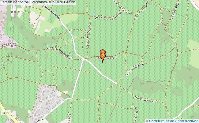 plan Terrain de football Varennes-sur-Loire : 2 équipements
