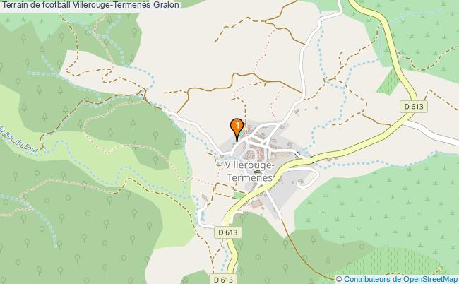 plan Terrain de football Villerouge-Termenès : 1 équipements